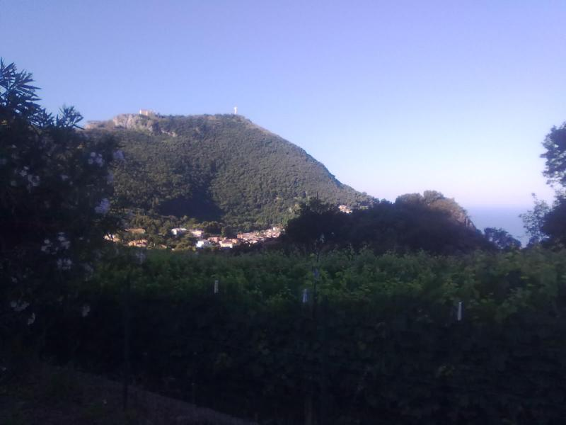 what U see from the house, the jesus, the village Maratea and the sea