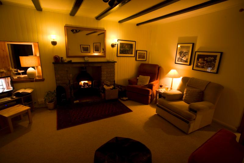 Cosy lounge at night