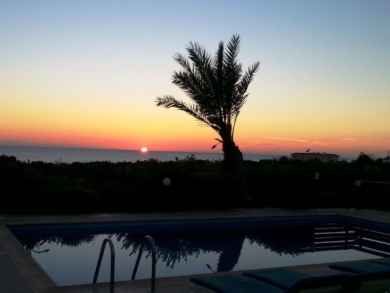 Amazing Sunset From The Pool Area