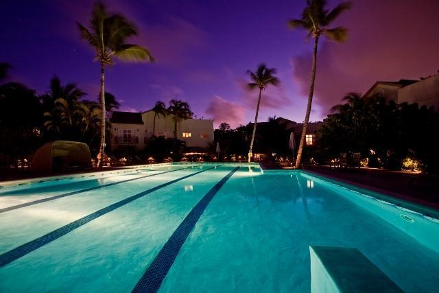 One of the largest pools in St. Lucia, it is perfectly lit at night.