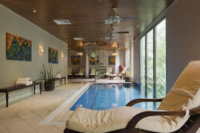 A side view of the relaxation room in the Casuarina Spa