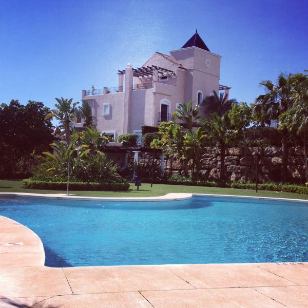 Villa viewed from the communal pool