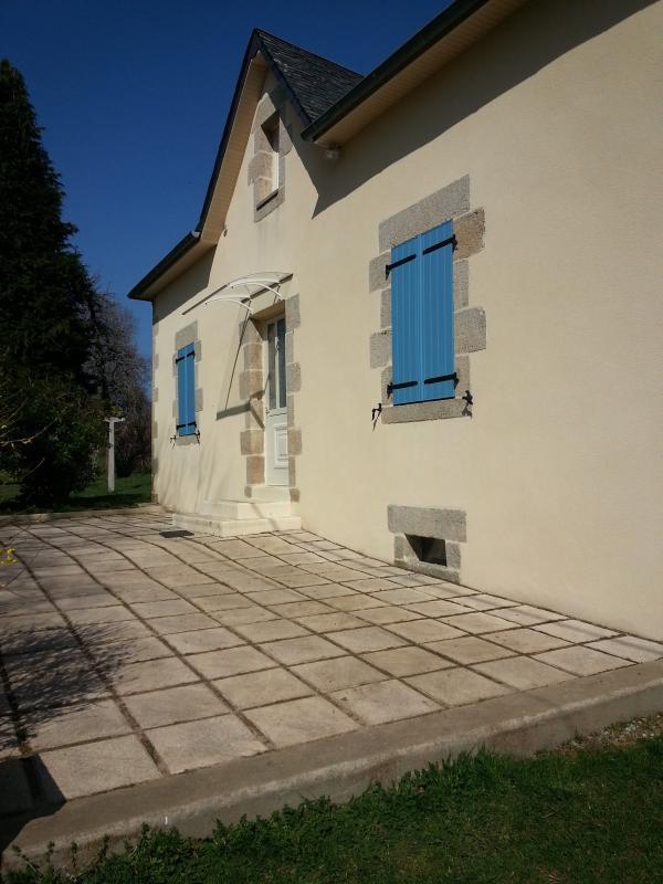La terraza exterior de la casa