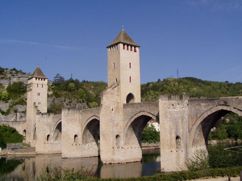 The Pont de Valentré in Cahors,the capital of the Lot. 20 km away