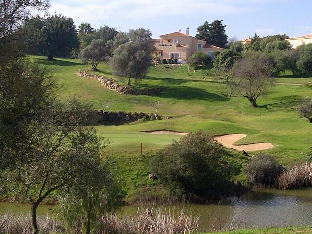 View of the villa from the golf course