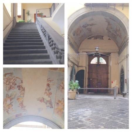 Os detalhes artísticos do edifício