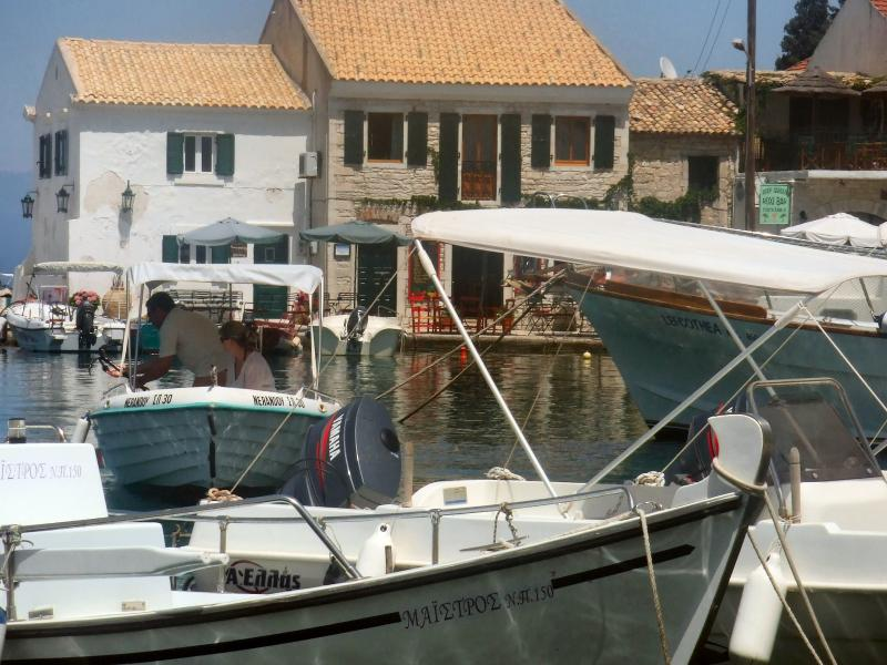 Loggos Harbour for boathire and for trips to Anti-Paxos