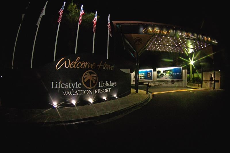resort main entrance
