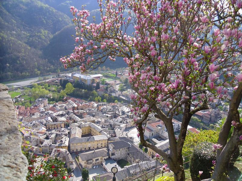 Panorama su Varallo dal Sacro Monte.