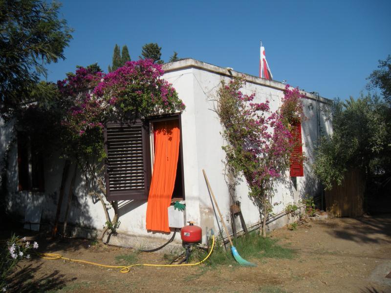 A casa visto da porta da entrada