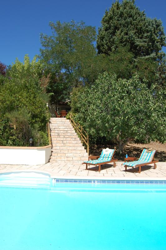 Step Access from Upper Terrace to Pool