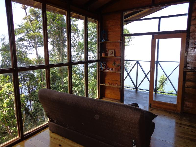 Enjoy scenic views from every angle in our cosy cabin.