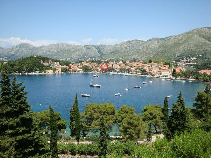 Old town Cavtat - apartment location marked red