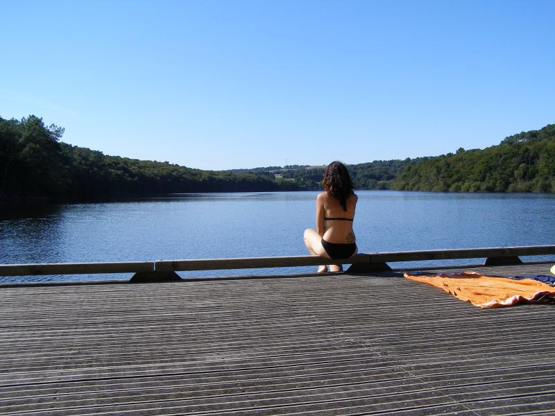 Wildswimming only 20 mins away at Lac de Guerledan