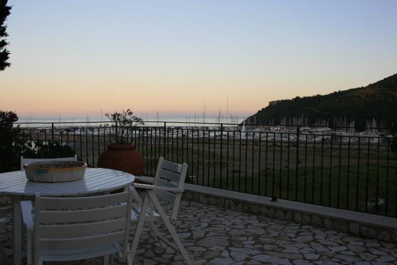 terrace and its view