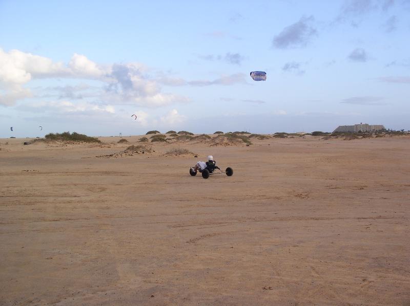 Kiting on local beach