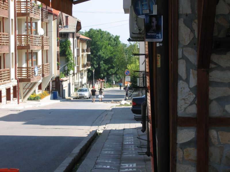 Pirin Street, the 'main drag' in Bansko, is a couple of blocks from Snowhouse 3.