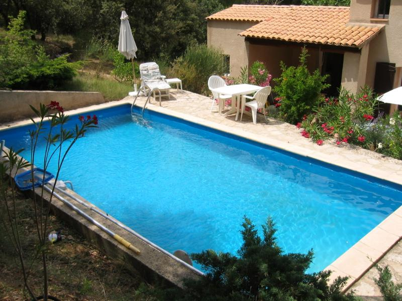 The pool is especially inviting on hot summer days