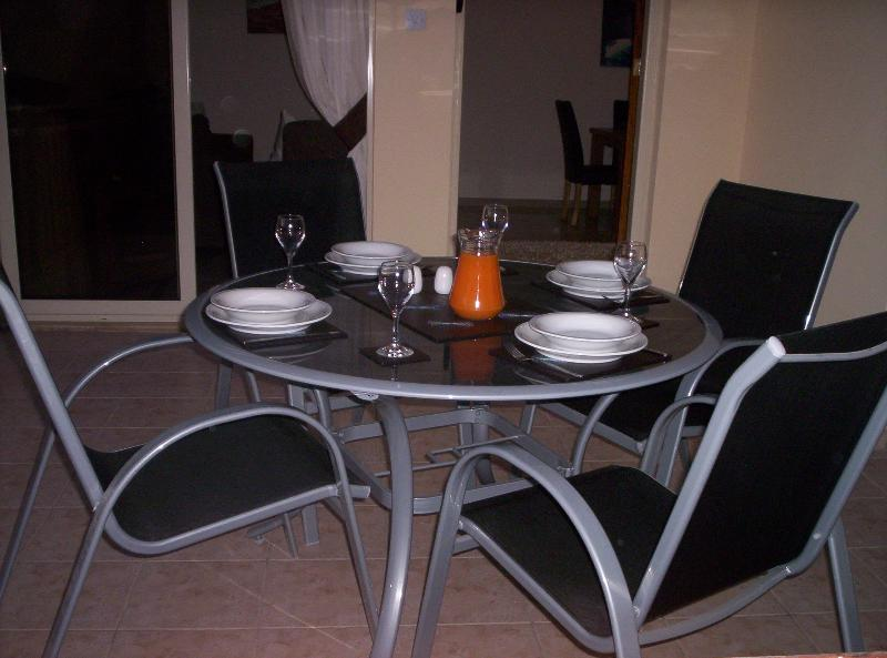 Patio offers alfresco dining options
