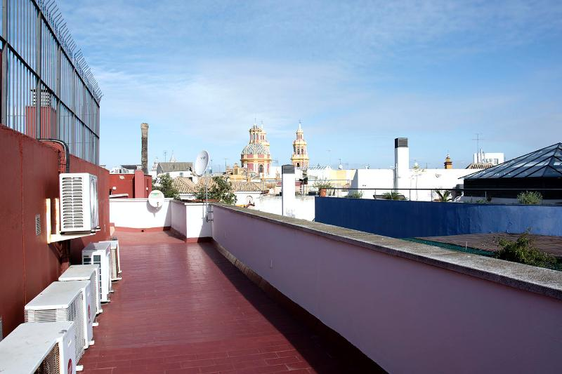 Views form the terrace of the building