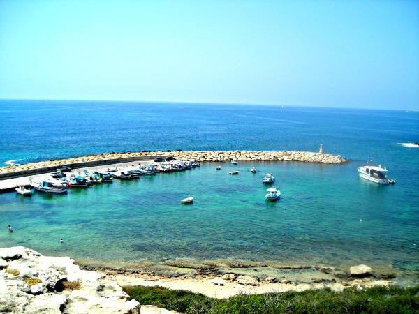 Another local sight - Peyia Harbour - clean quiet beach area