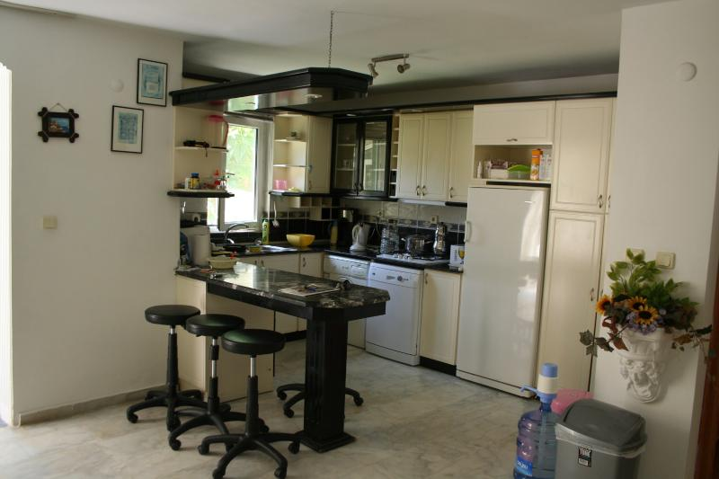 Fully equippped kitchen with breakfast bar