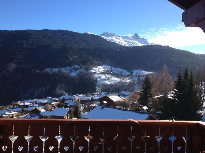 16 Chalet Burgin balcony view to Mnt Saulire winter
