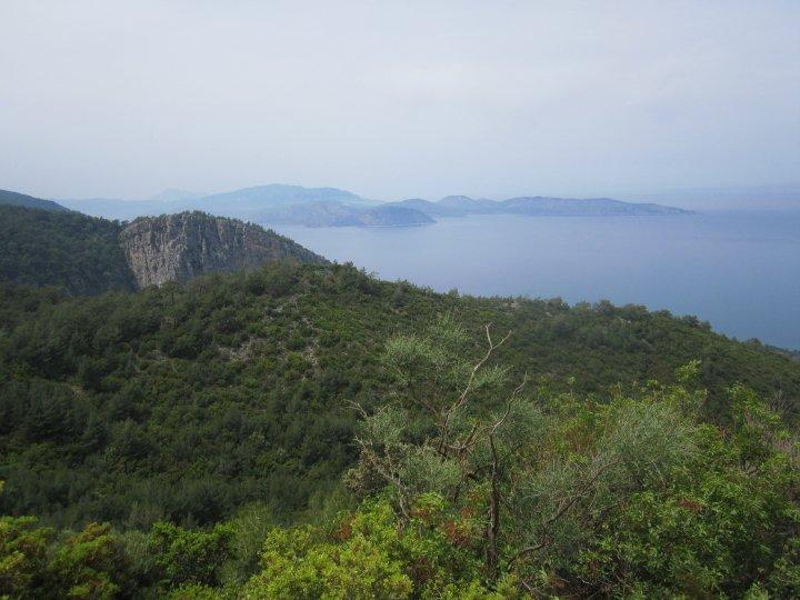 Hiking trail on the Aegean coast