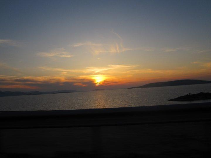 Sunset captured on the short drive from Gulluk to Bodrum