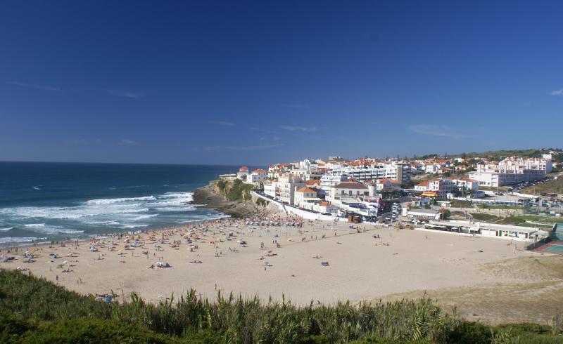 Praia das Maçãs beach, less than 5 mins walk away