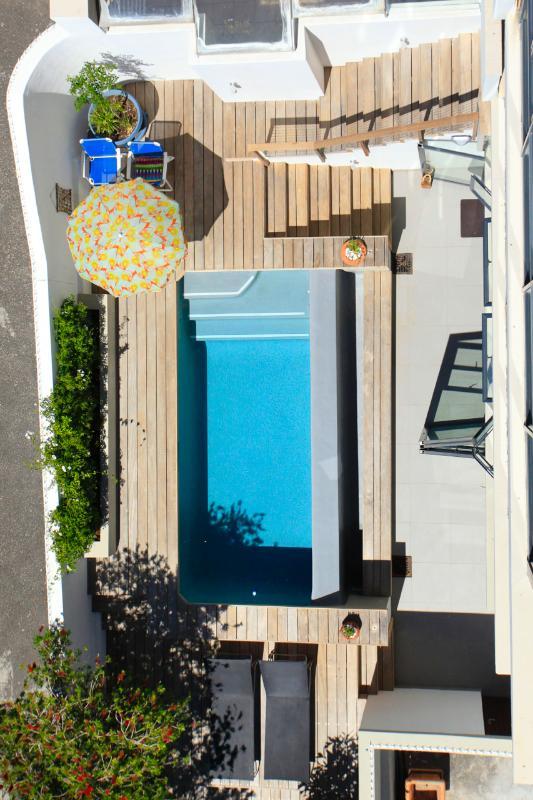 Ariel view of pool