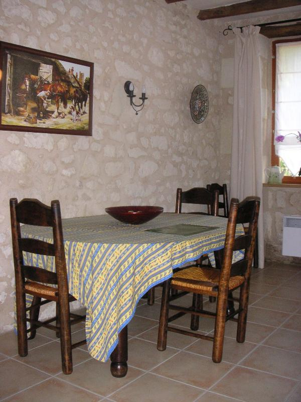 Enjoy an evening meal in the French style dining room.