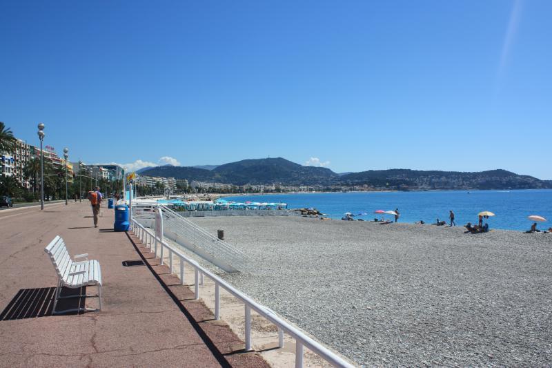 On the famous Promenade des Anglais