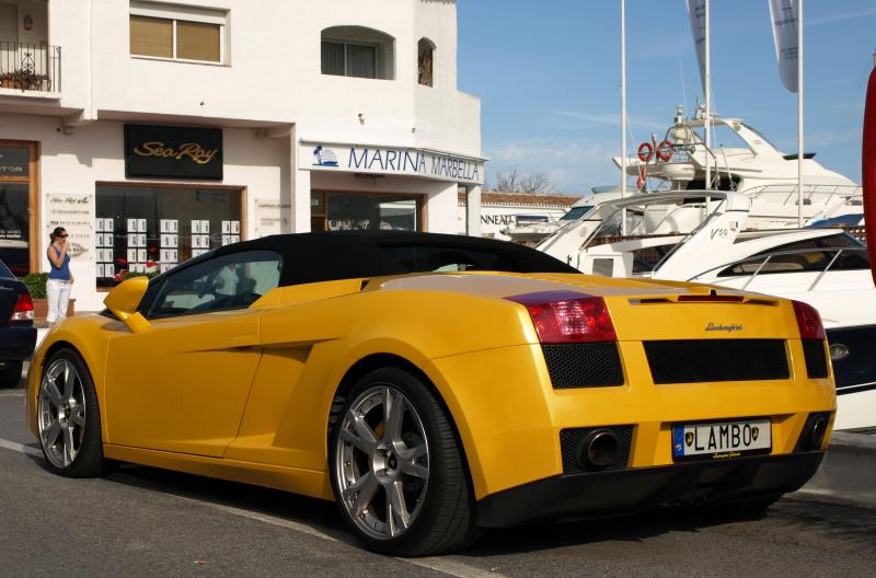 Puerto Banus on a Saturday, see Lambos, Ferraris, Astons and more