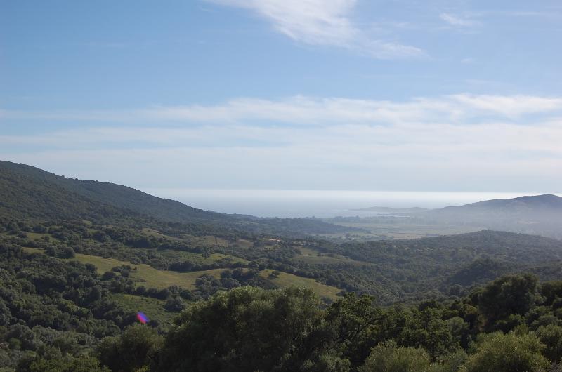 Vue sur la baie de Porto Pollo