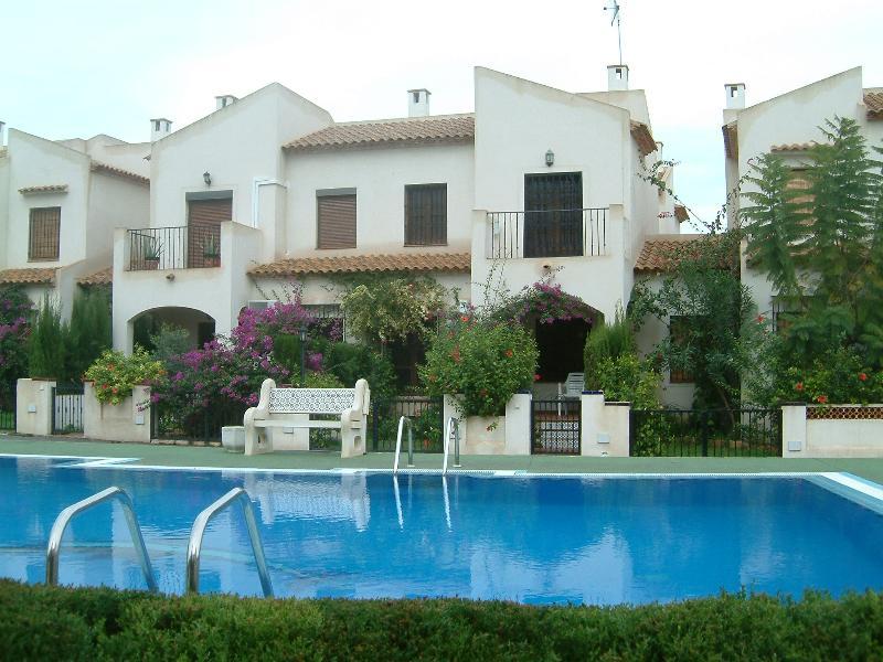 Villa overlooking pool