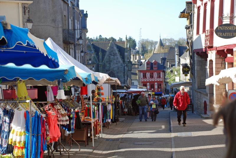 The wonderful street market in the lovely town of Josselin