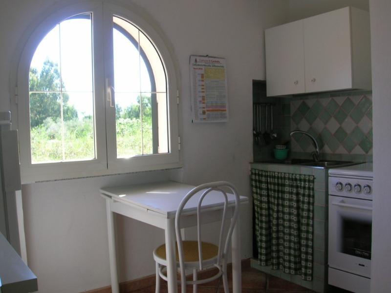 Kitchen corner in the small living room. Small apt.