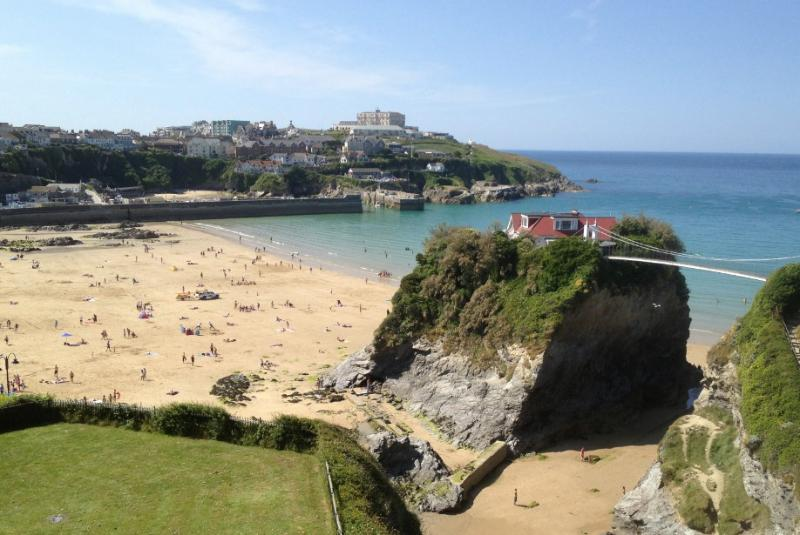 Fabulous view to Towan Beach, The Island and Harbour. Best view in Newquay.