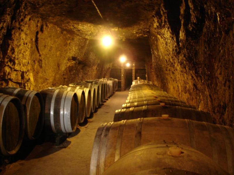 Visit famous troglodyte wine caves deep underground