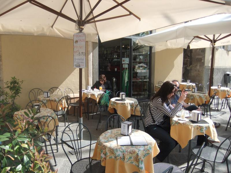 Cafe on Piazza Napoleone in Lucca