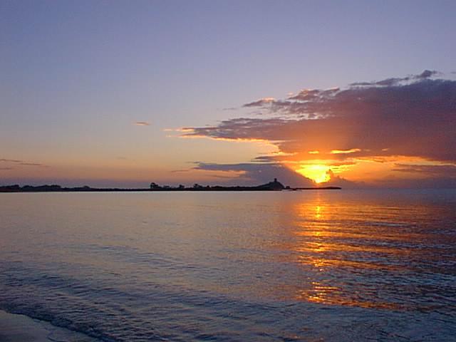 Sunrise at Pula beach