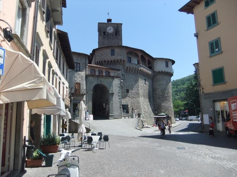 The square and castle in Castelnuovo