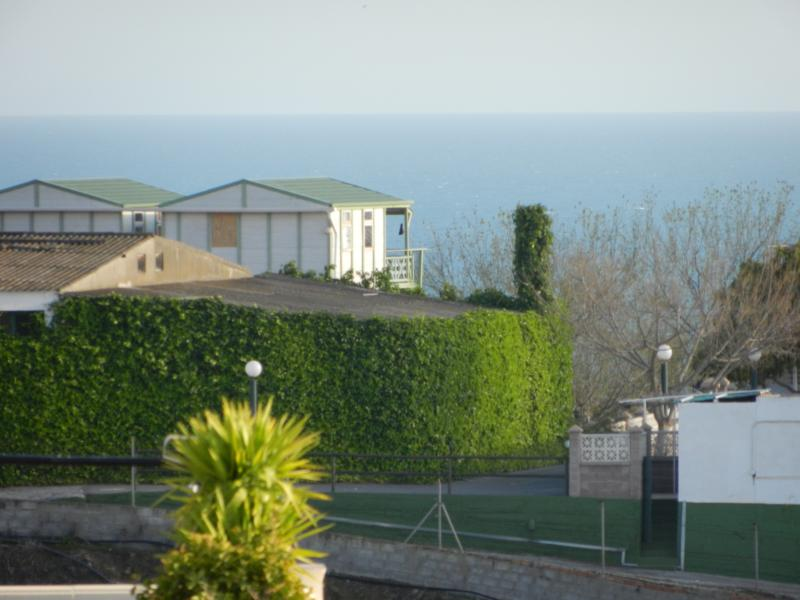 Sea view to the side of roof terrace