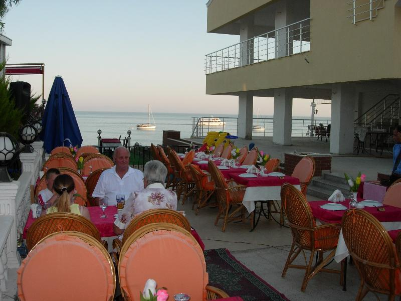 One of the many sea front restaurants