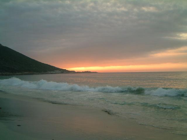 Sandy Bay beach sunset