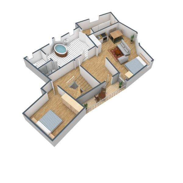Floor plan apartment Ellmau (schematic)