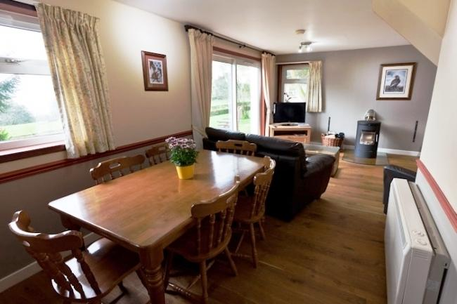Open plan living with high quality furnishings