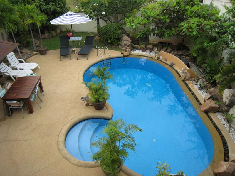 tongson villas private pool great for entertaining  the bar is nearby