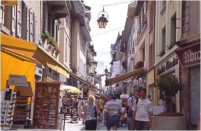 Evian pedestrian street